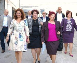 Mª José Montero (izquierda), Teresa Jiménez y la alcaldesa de Órgiva, Mª Ángeles Blanco.