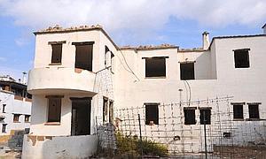 Casas del Golco en las que se aprecia su deterioro